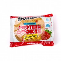 Протеиновое печенье Bombbar Клубника (60г)